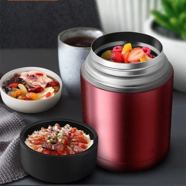 Large Capacity 600ML/800ML/1000ML Thermos Lunch Boxes Portable Stainless Steel 6