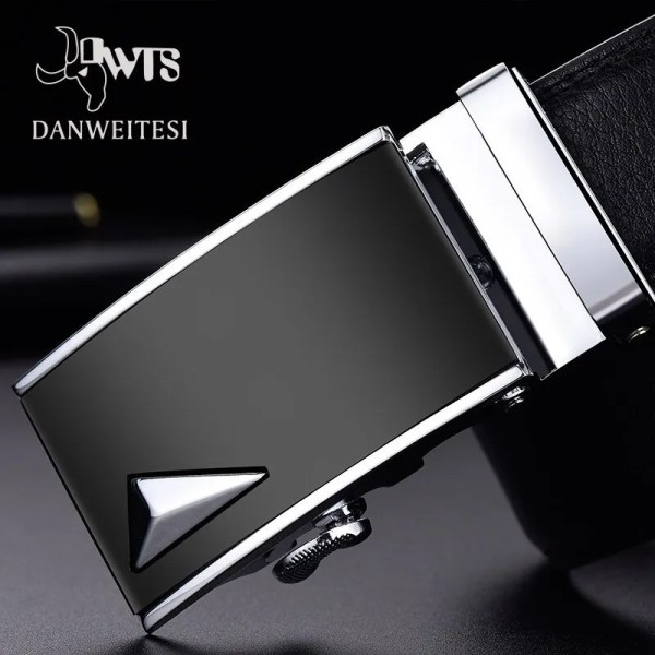 Men Luxury Leather Belt with Automatic Buckle 1