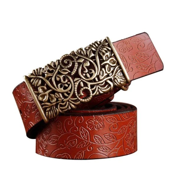 Hand Woven Real Leather Women Casual Belt 1