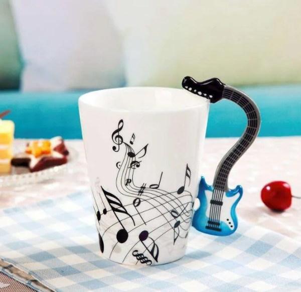 Musical Instruments Style Novelty Ceramic Mugs 16