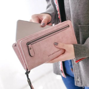 Women Fashion PU Leather Long Wallet