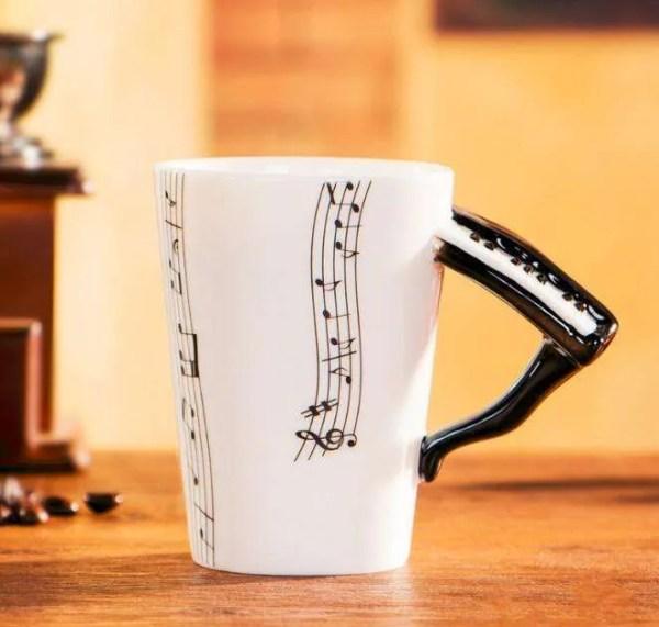 Musical Instruments Style Novelty Ceramic Mugs 12