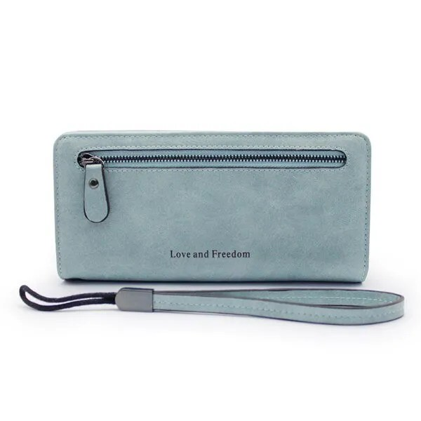 Women Fashion PU Leather Long Wallet 12