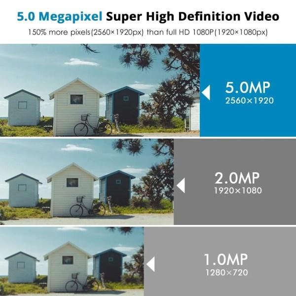 Hiseeu 5MP 2MP Surveillance POE IP Outdoor Security Camera 1