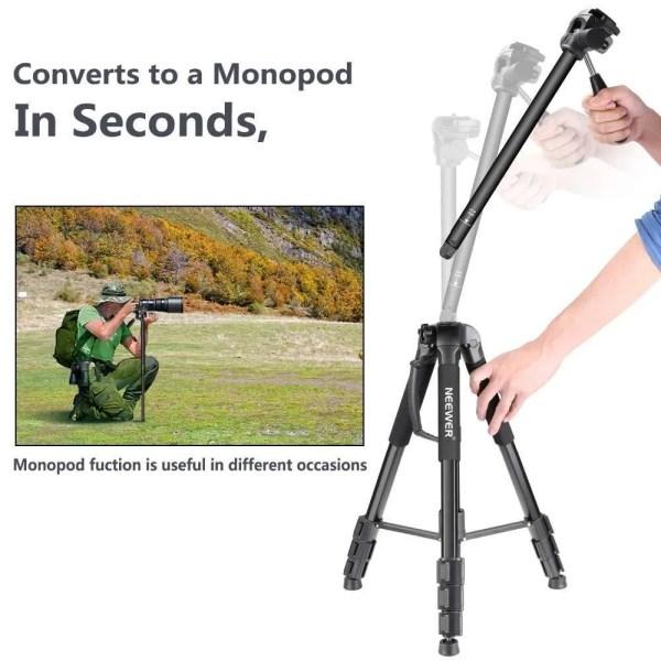 Portable 70 inches/177 cm Aluminum Alloy Camera Tripod 4