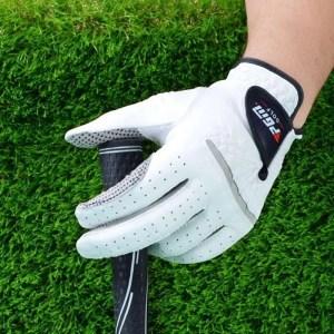 1pcs Golf Gloves Men's Left Right Hand Soft Breathable Pure Sheepskin With Anti-slip Granules Golf Gloves Golf Men