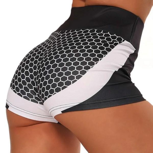 3D Mesh Sexy Yoga Shorts Women Sports Wear Fitness Short Pants Skinny Female Push Up Gym Clothing Elastic Breathable Sportwear