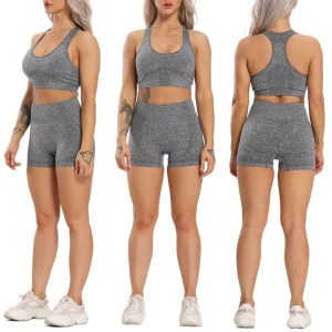 Seamless Breathable Shorts and Sports Bra Set