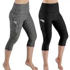 Women 3/4 Exercise Calf-Length High Waist Sports Pants