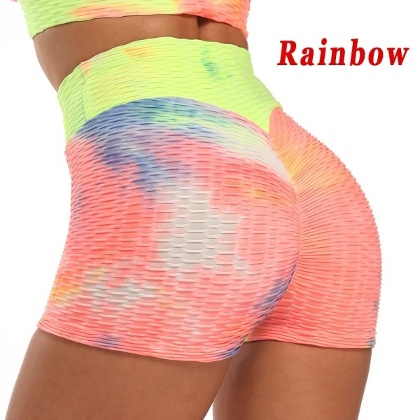 Sexy Women's Sports High Waist Shorts Athletic Gym Workout Fitness Yoga Leggings Briefs Athletic Breathable push up Yoga Short