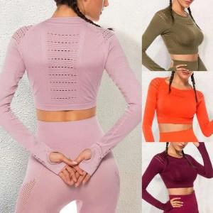 Womens Spandex Long Sleeve Sport Top
