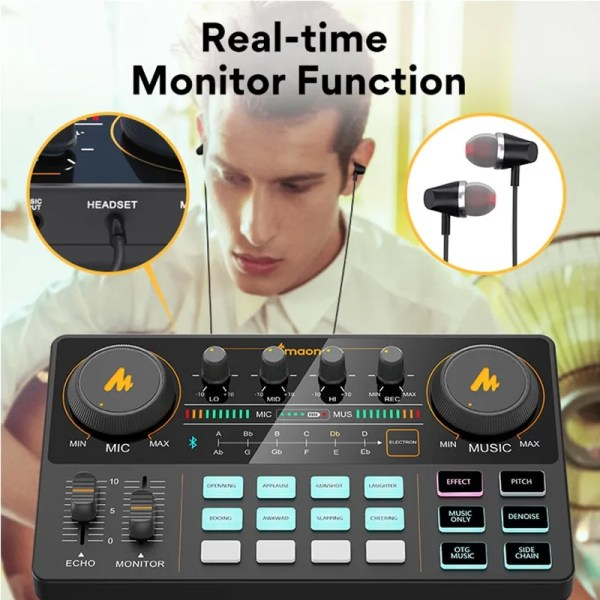 Podcasting Set with Audio Interface and Condenser Microphone 4