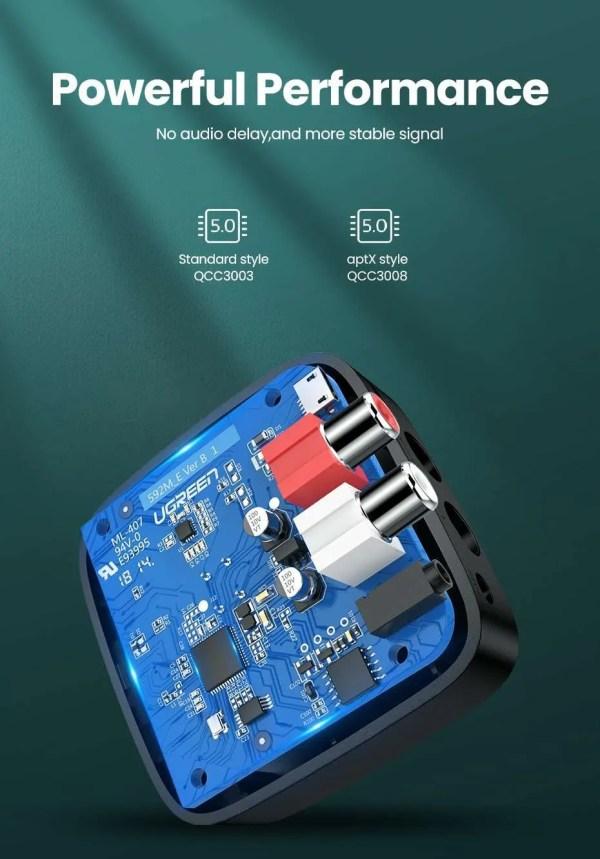 Bluetooth RCA Receiver 5.0 aptX 3.5mm Jack Aux Wireless Adapter 11