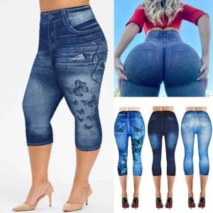 Women Summer Leggings Jeans Style