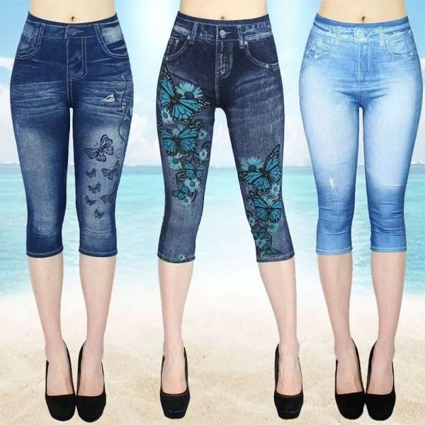 Women Summer Leggings Jeans Style 8