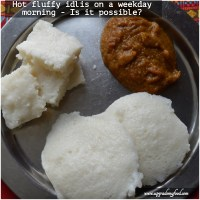 How long does it take to steam idlis in the morning?