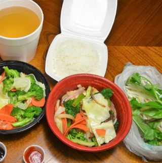 The healthiest take-out option for a vegetarian