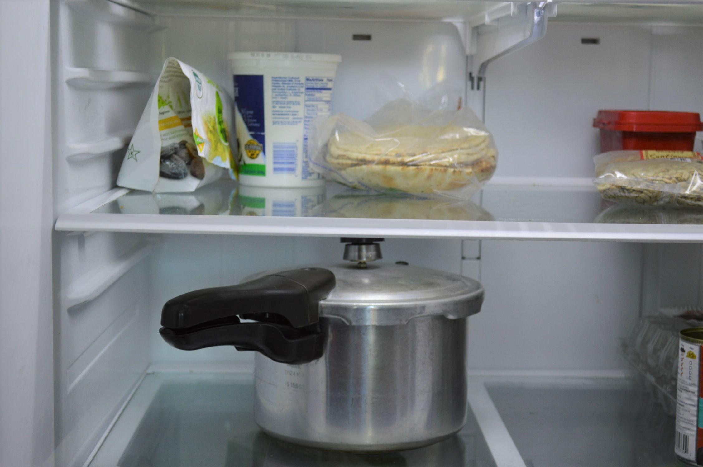 Store cooker in fridge