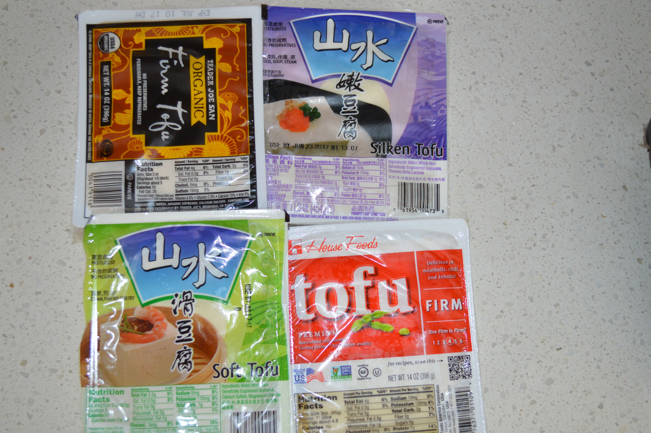 Types of tofu