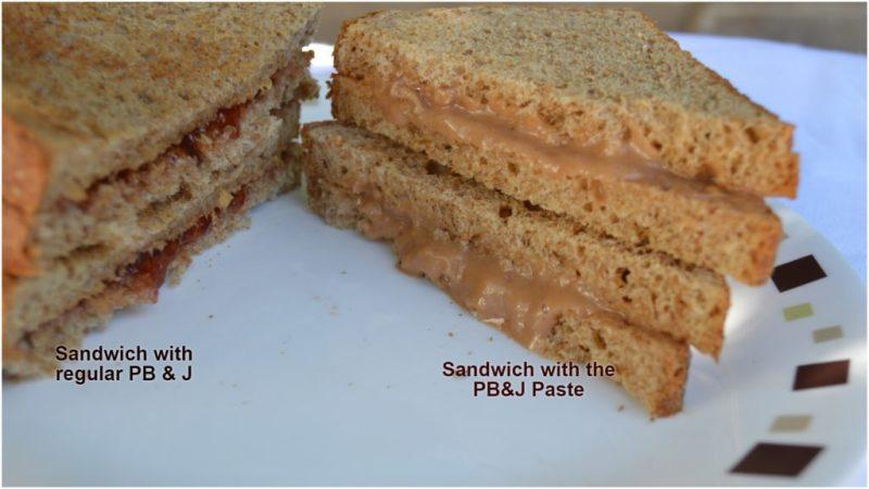 Healthy PB&J sandwich