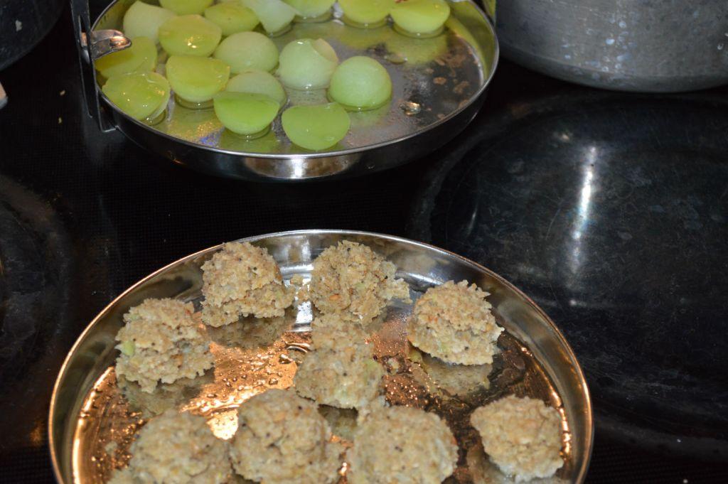 Dumplings well steamed
