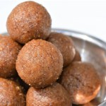 Healthy sugar free Wheat ladoo made with walnuts and dates