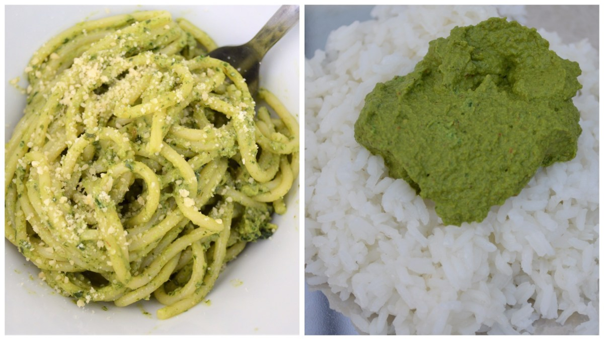 Kale Pesto and Thogayal/Chutney (Make 2 unique dishes from same base recipe)