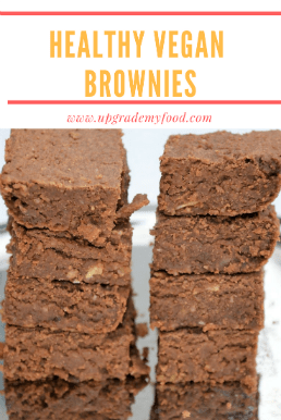 healthy vegan brownies made from chickpeas