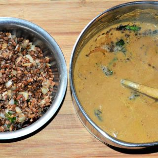 Horsegram Rasam and Sundal