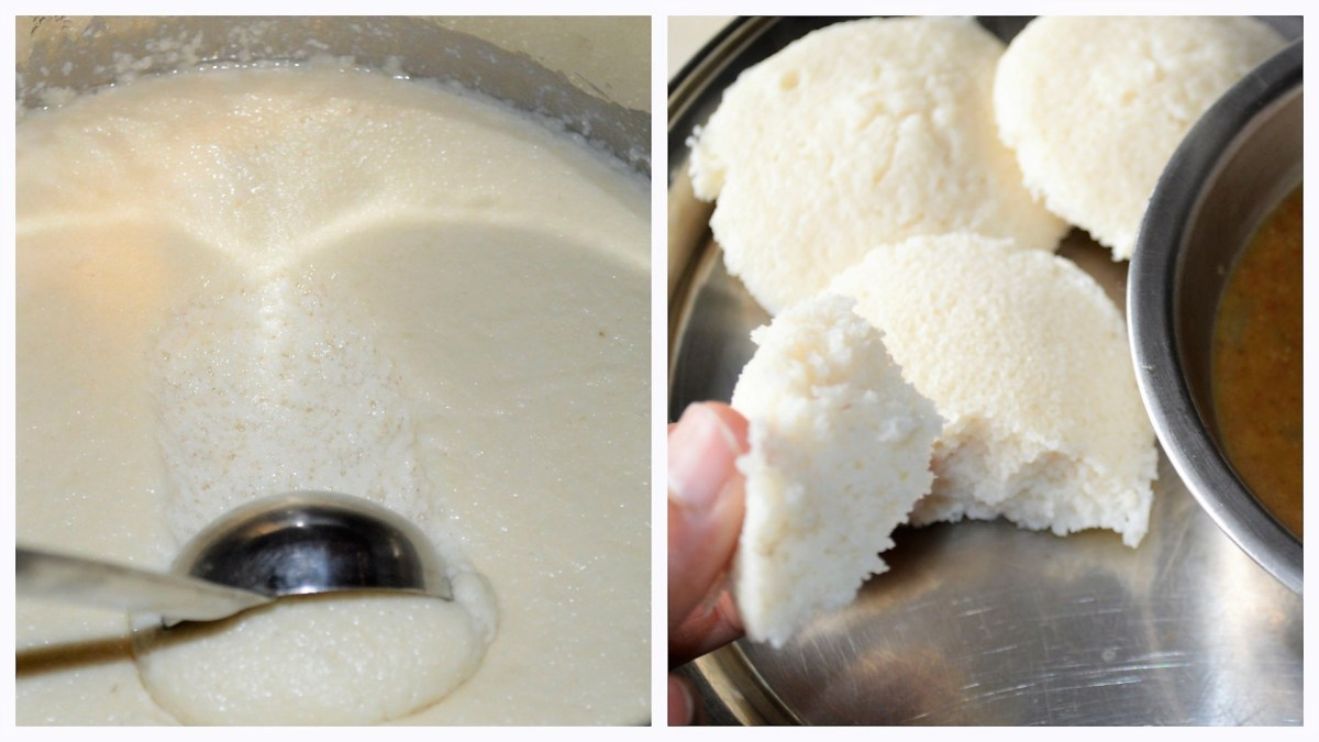 Make fermented idli batter in 4 easy steps (using blender + instant pot)