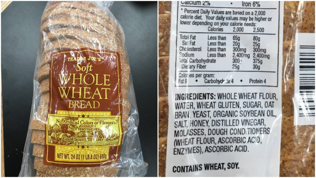 Bread without preservatives