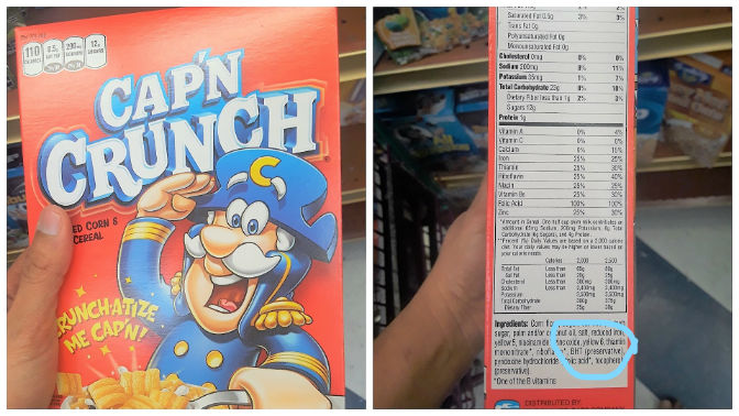 Cereal cap crunch with preservatives