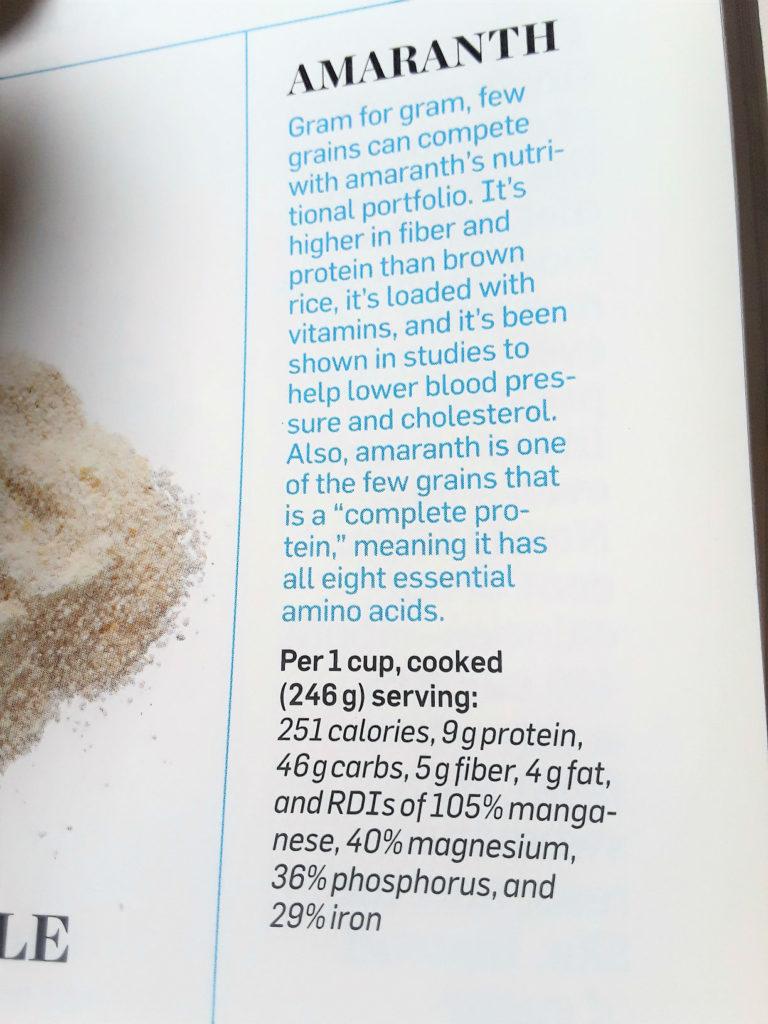 amaranth nutrition
