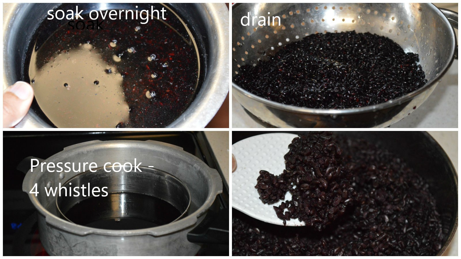 black rice pressure cooker