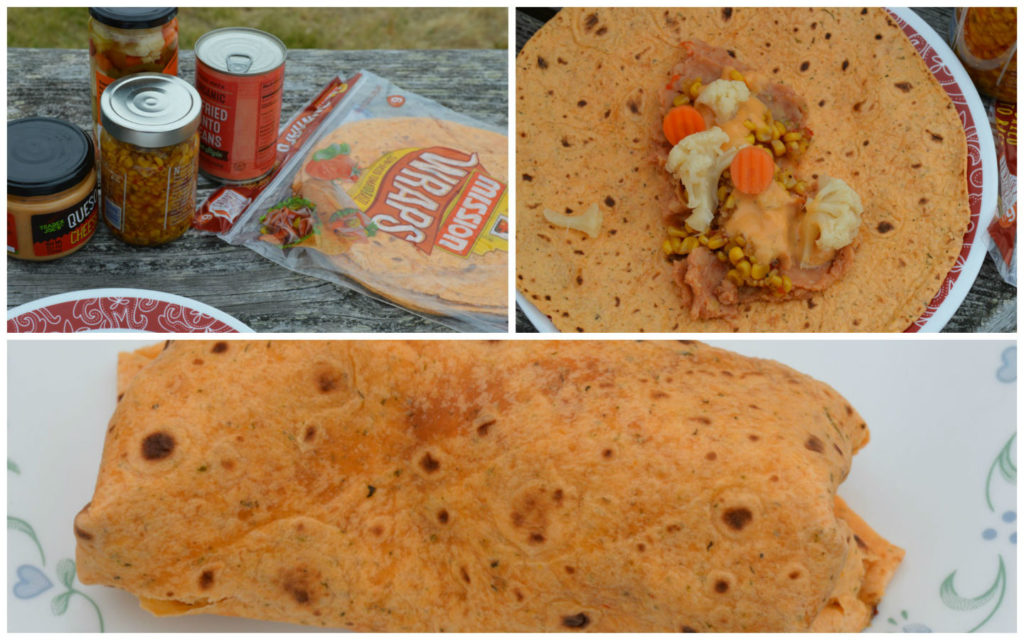 Tortilla wraps easy camping lunch