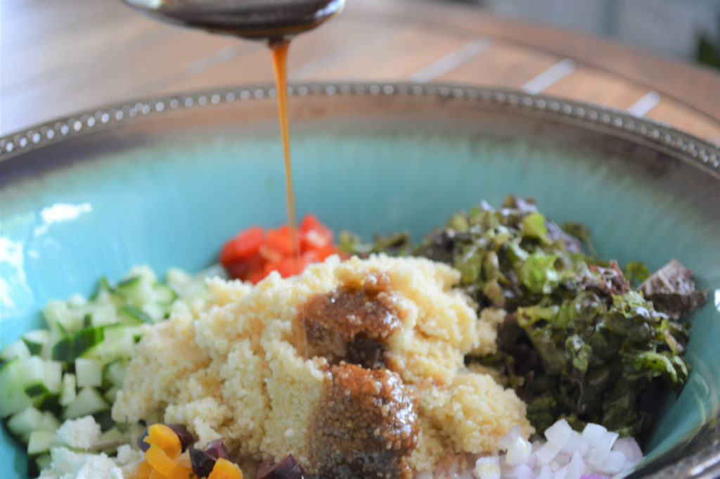 couscous salad with balsamic vinegar