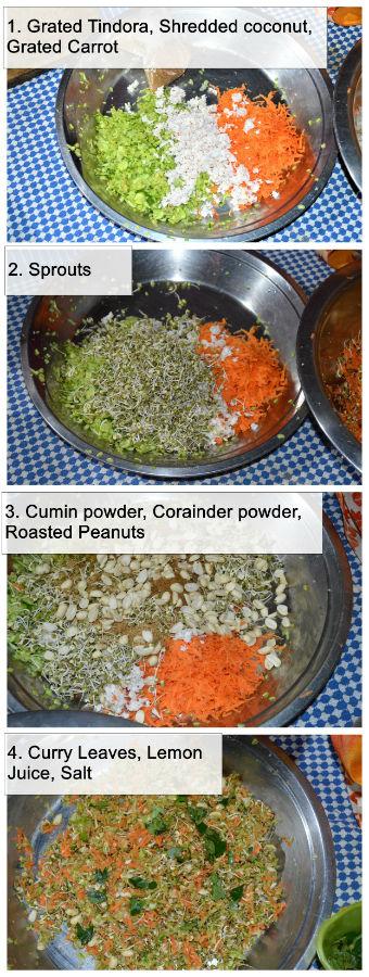 Dondakkai raw food SALAD recipe