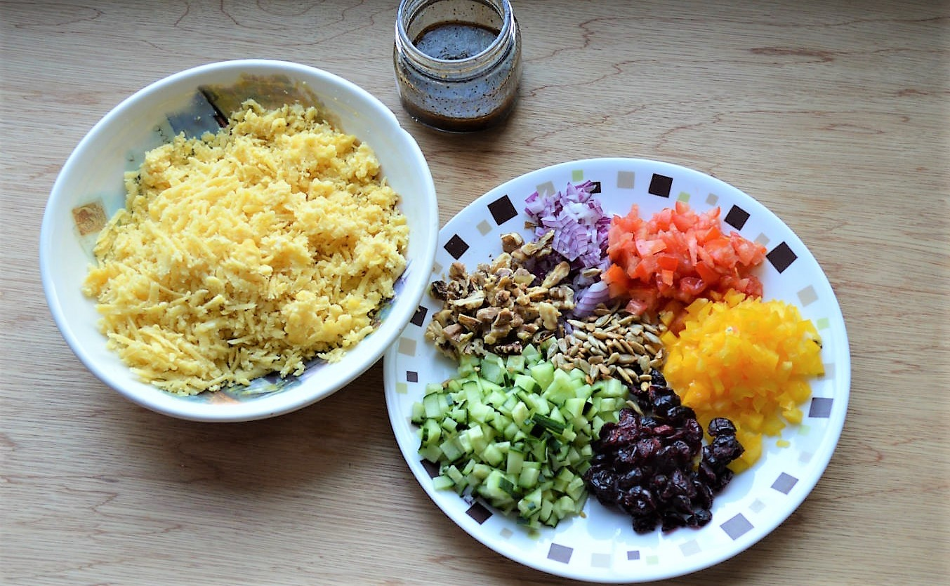 Moong dal lentil vegan salad recipe