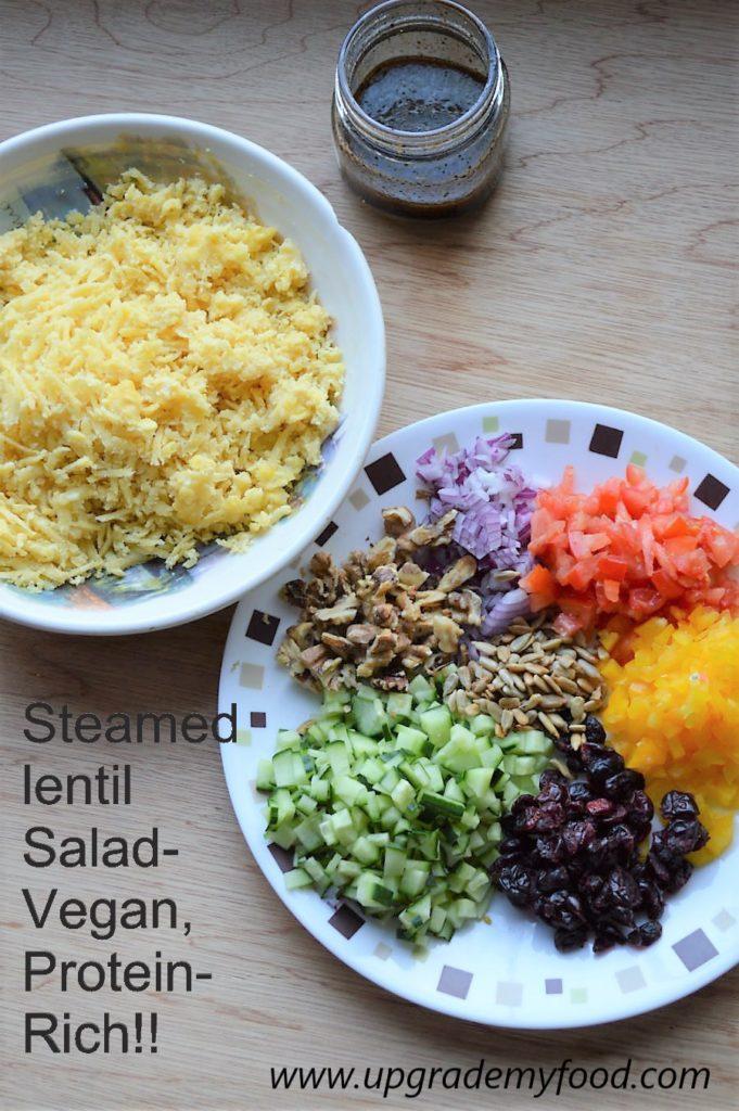 Steamed Lentil Salad Vegan