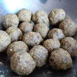 Roasted chickpeas vegan protein ball