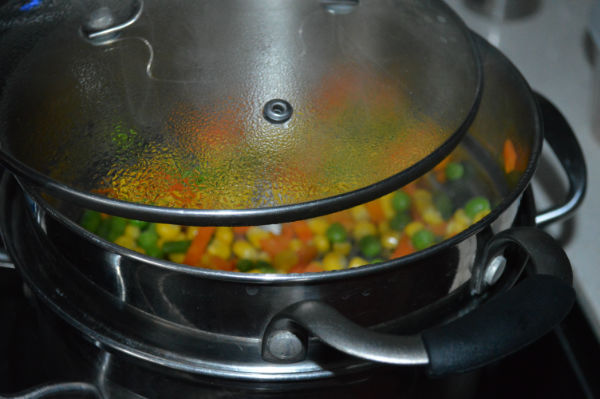 Steam mixed veggies
