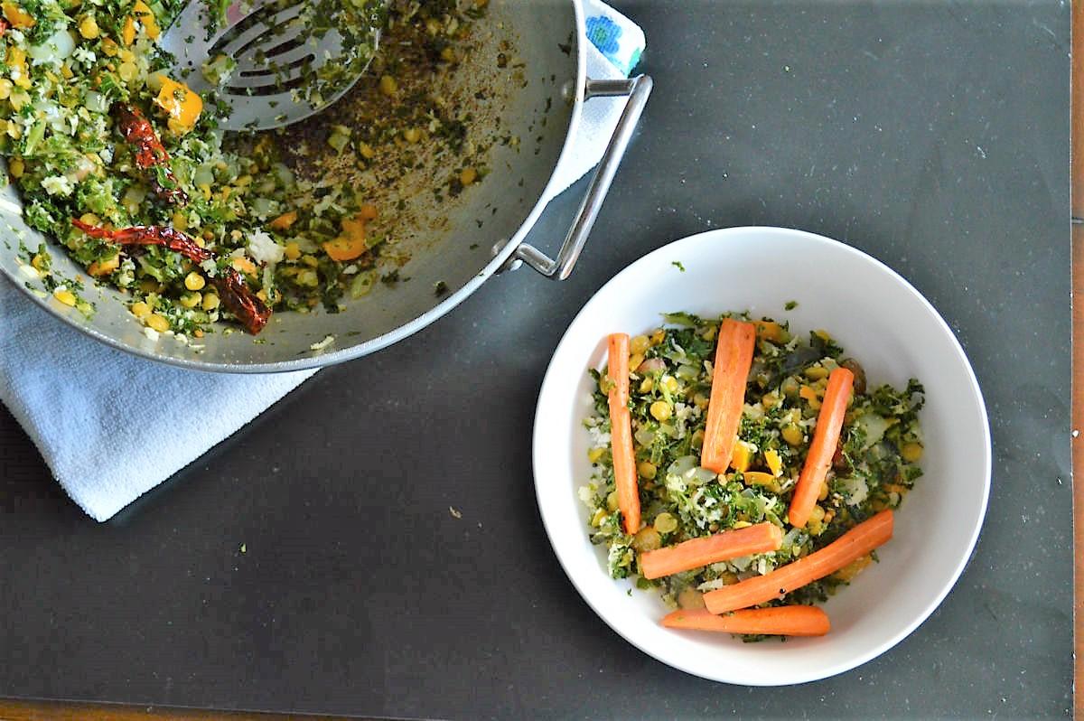 South Indian Kale Salad Recipe