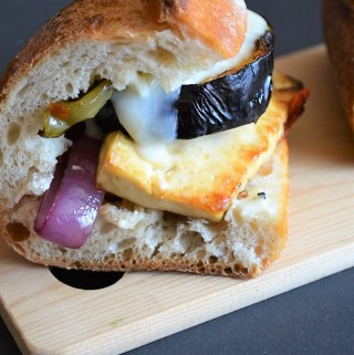 Stuffed Eggplant Sandwich Recipe
