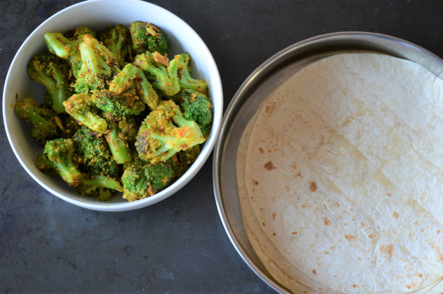 Quick broccoli stir fry dry subzi