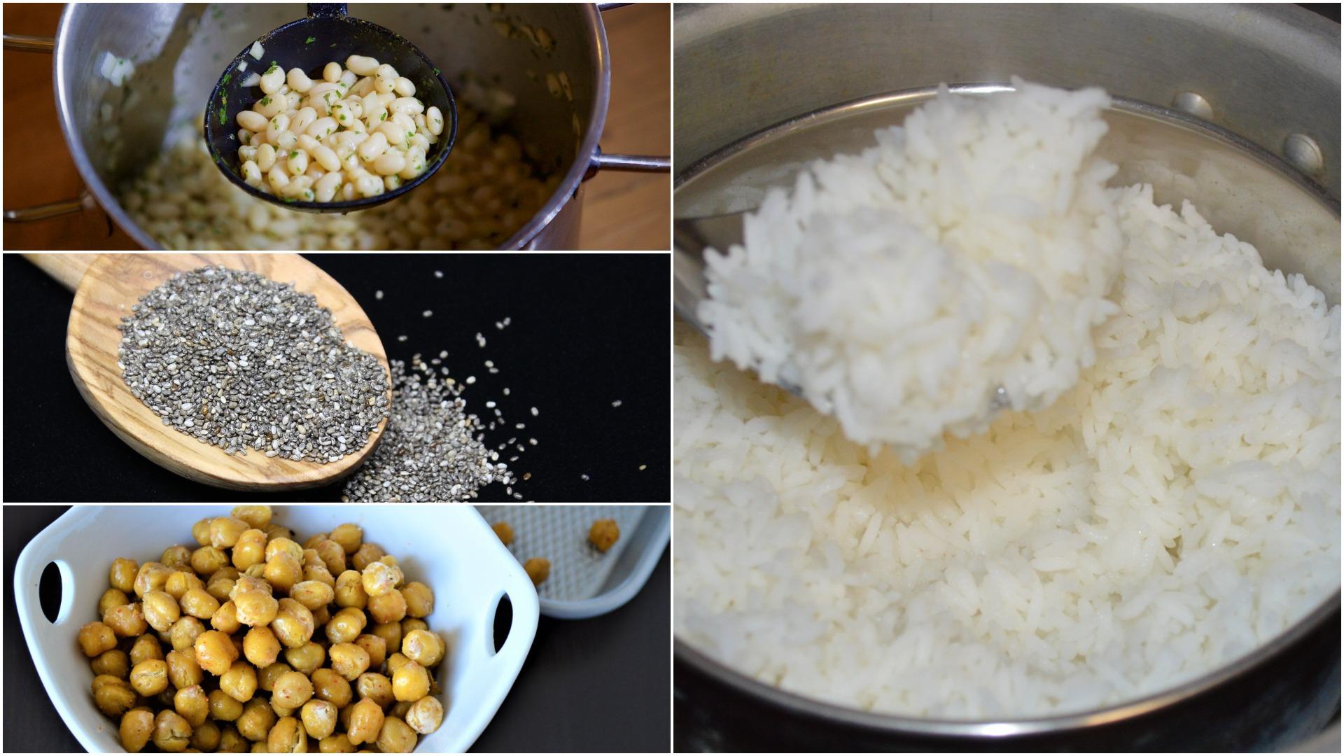 Grains vs beans, lentils, seeds