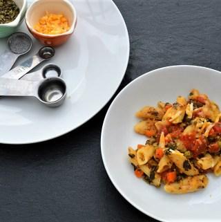 Instant pot penne pasta with lentils