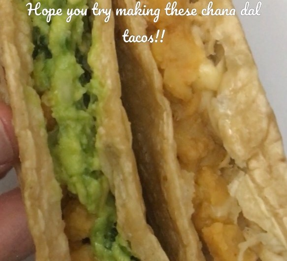 Chana Dal Tacos