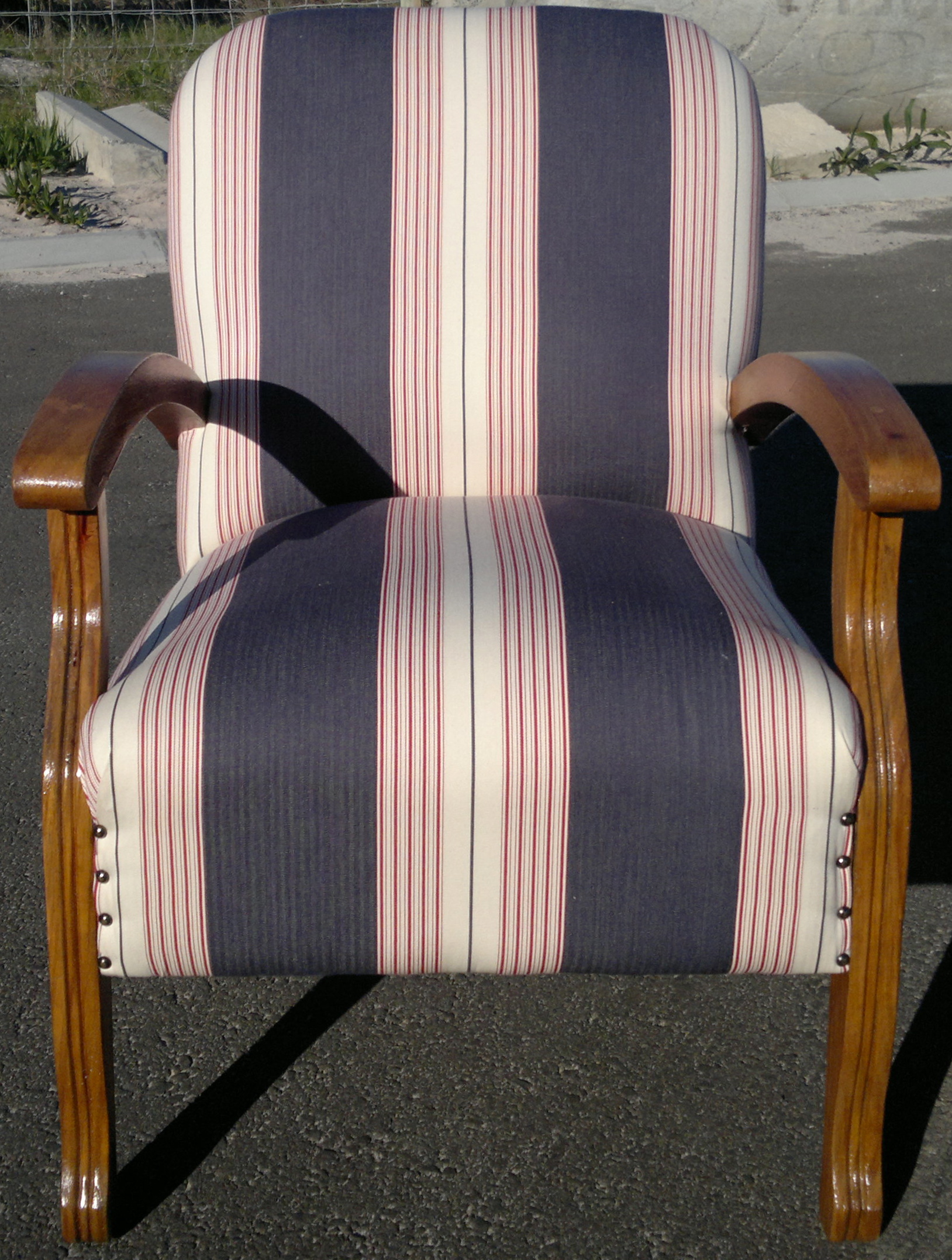 where to buy chair covers in cape town rent chicago fabric arm striped upholstery