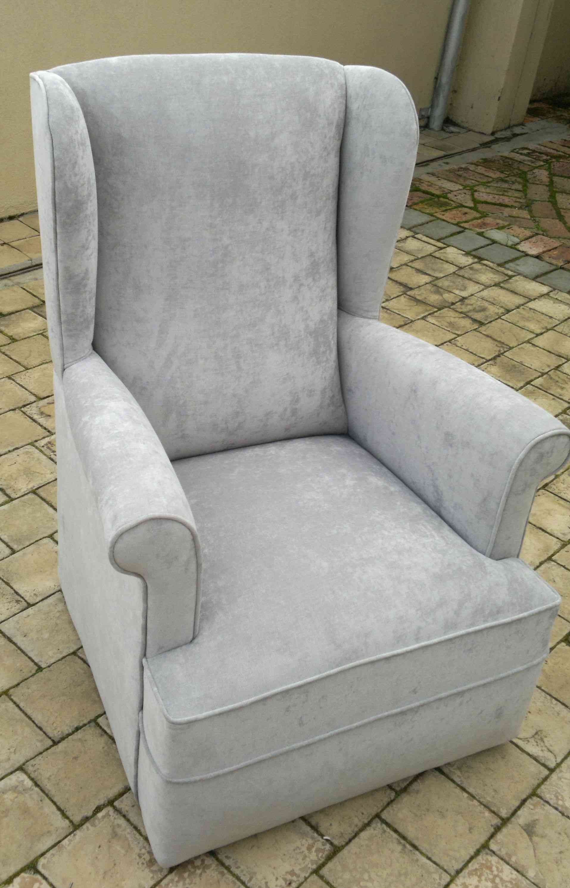wingback rocking chair cape town bean bag baby vintage upholstery