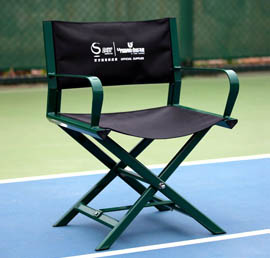 folding umpire chair canopy with footrest linesman chairs products guangdong uphos sports tp 205